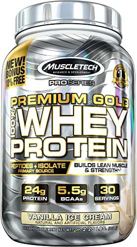 MuscleTech Premium Gold 100 Whey Protein Powder