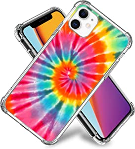 Tie Dye Rainbow Case for iPhone 11,11 Pro,11 Pro Max, iPhone X, XR, iPhone 7/8,7/8 Plus, Flexible TPU Shockproof Protective Case Cover