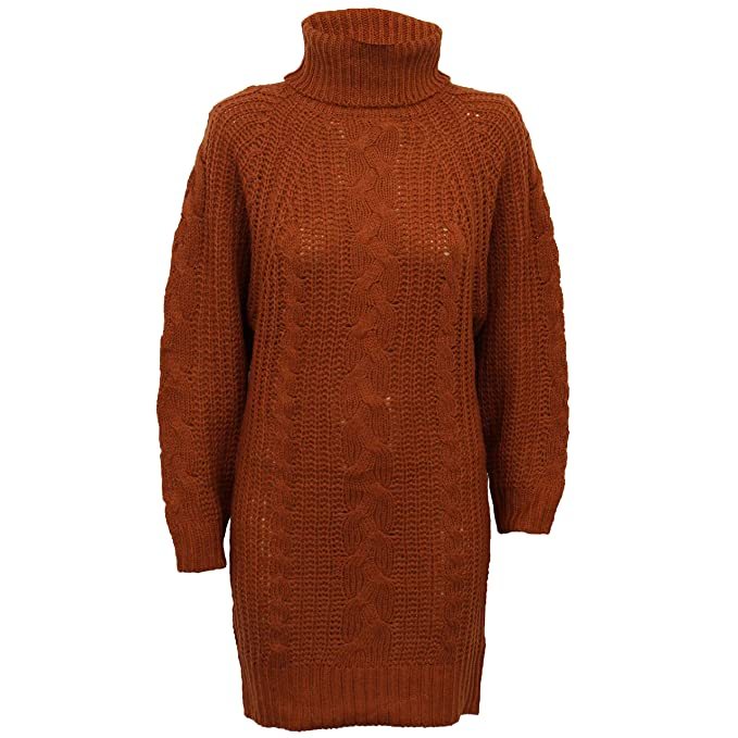 3cbe1ec97d97 Brave Soul Maglione da Donna Abito da Donna Maglione Maglia Polo Tartaruga  Collo Alto Vimini: Amazon.it: Abbigliamento