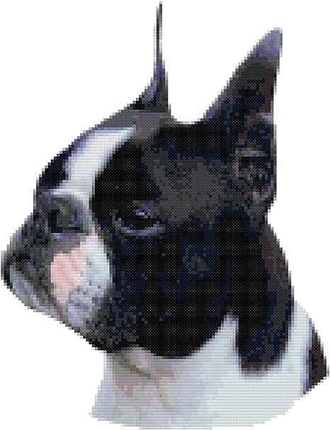 French Bulldog Printed Vintage V-neck Linen Mini Shift Dress WDS/_02 18