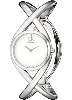 Calvin Klein Womens K2L23120 Enlace Analog Display Swiss Quartz Silver Watch