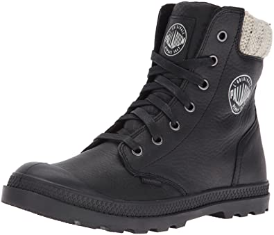 Palladium Boots Womens Women's Pampa Hi Knit LP Chukka Boot, Black, ...