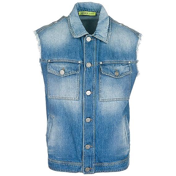 a0327a7eb4e5 Versace jeans men waistcoat blu uk clothing jpg 569x569 Versace jeans men