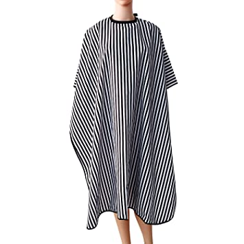 Beauty & Health Styling Tools Hearty Waterproof Stripe Pattern Salon Barber Hair Dyeing Haircutting Gown Wrap Apron Soft Cloth Hairdressing Tools