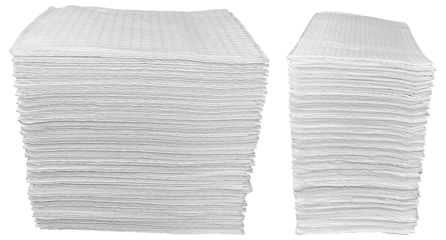 50 Count - White 3-Ply Baby Public Changing Table Liners - 13 in. X 19 in. Sunshine Gift Baskets