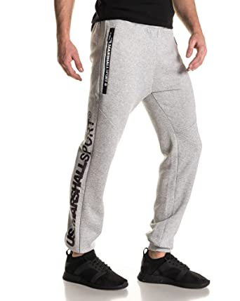 105b75dd5b6ac US Marshall - Bas de Jogging Molleton Gris Logo - Couleur: Gris - Taille: