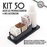KIT ACCESSORI CAFFE' 50 Bicchieri Professionali, Zucchero, Palette. Compreso Portaccessori VIP.