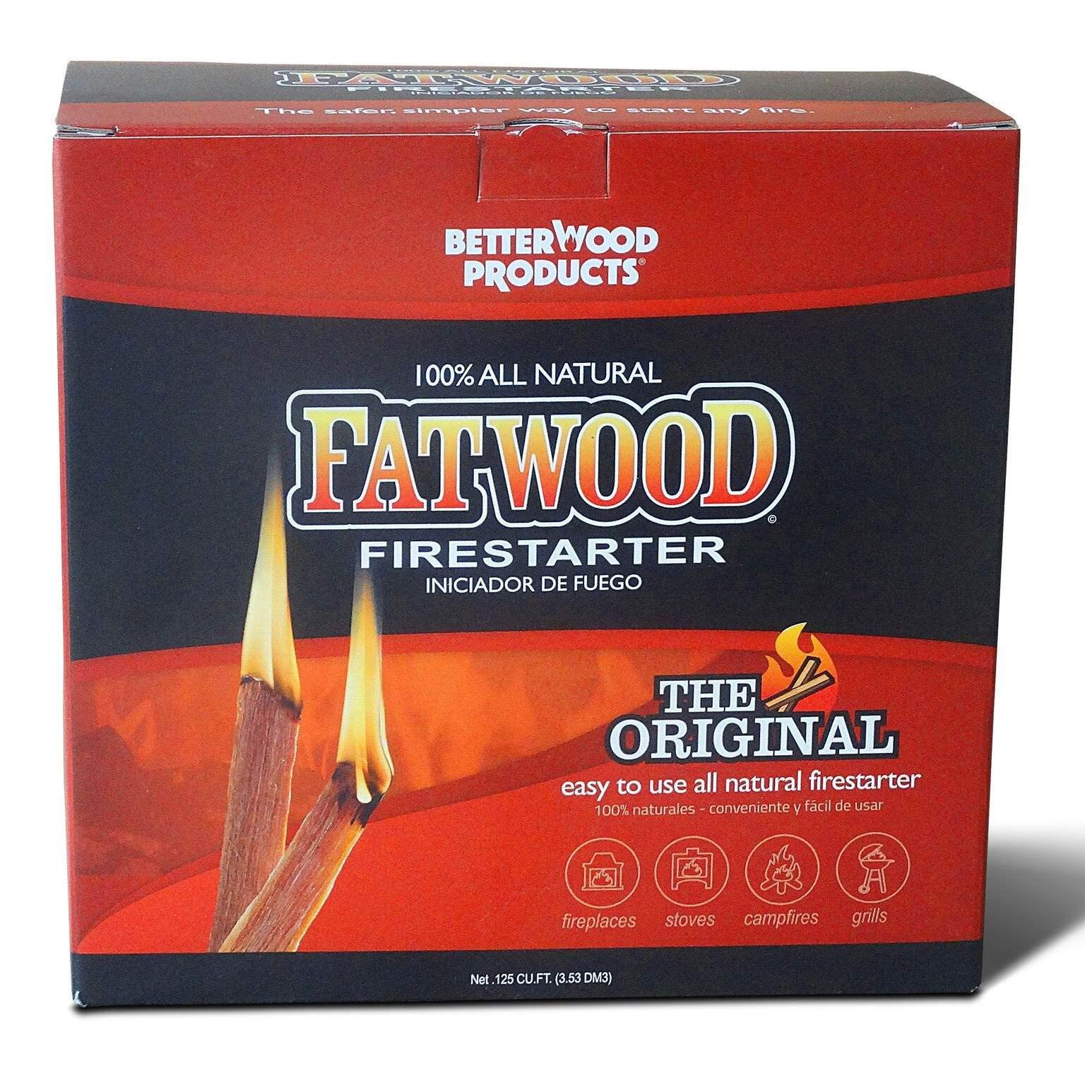Better Wood Products Fatwood Firestarter Box, 10-Pounds by Better Wood Products