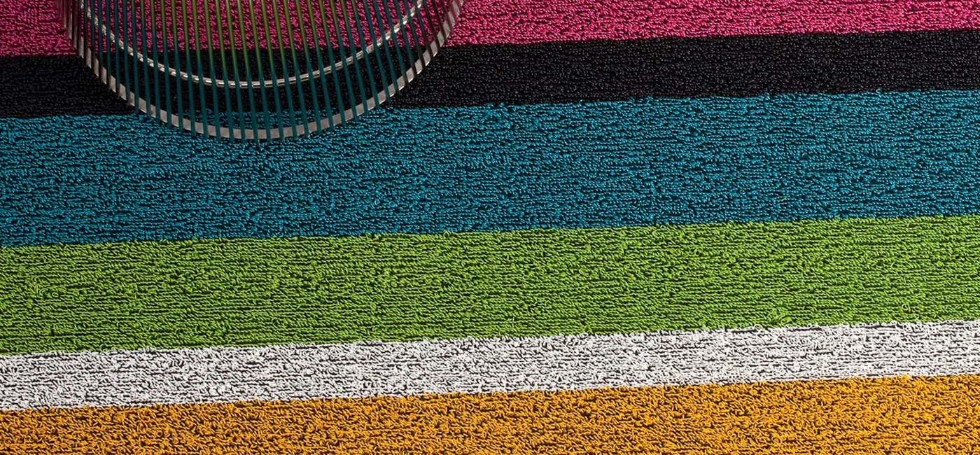 Chilewich Bold Stripe Big Mat, 36 by 60-Inch, Multi