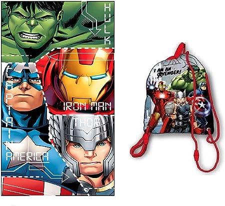 Marvel Serviette de Plage Avengers Endgame Captain America et Iron Man