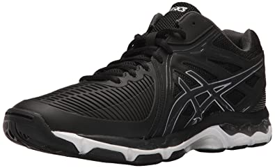 ASICS Mens GelNetburner Ballistic MT Volleyball Shoe BlackDark Grey Silver
