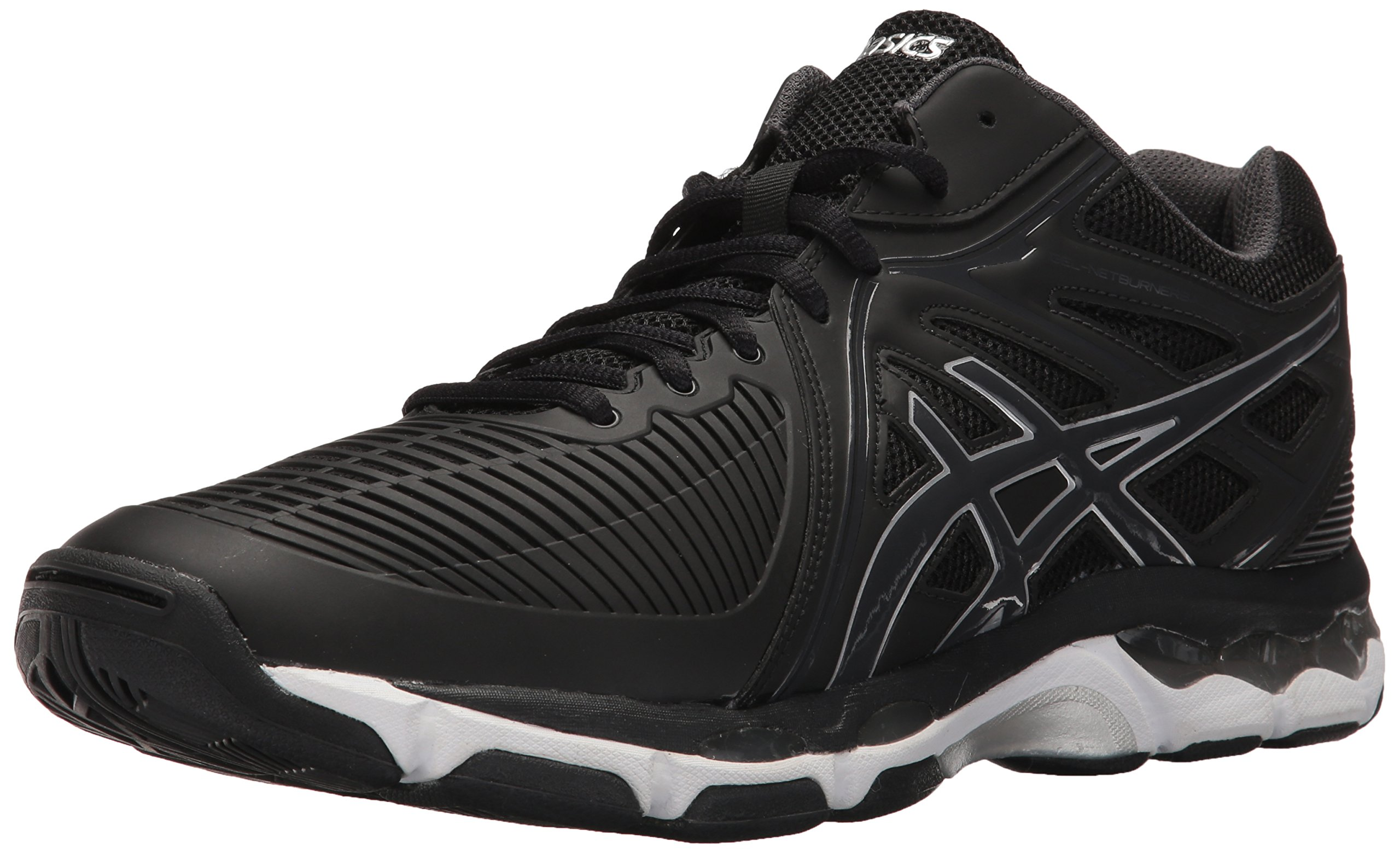 ASICS Men's Gel-Netburner Ballistic MT Volleyball-Shoes, Black/Dark Grey/Silver, 8 Medium US