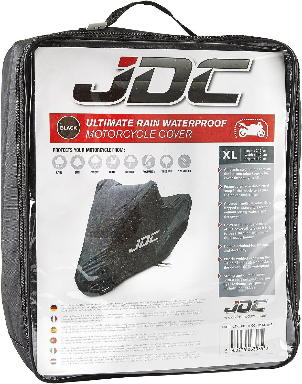 JDC 100/% wasserdichte Motorradabdeckung ULTIMATE RAIN Strapazierf/ähig, weiches Futter, hitzebest/ändig, verschwei/ßte N/ähte