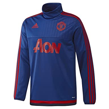 hot sale online 7d811 663a9 adidas Mens Manchester United Training Top Royal Blue 3XL