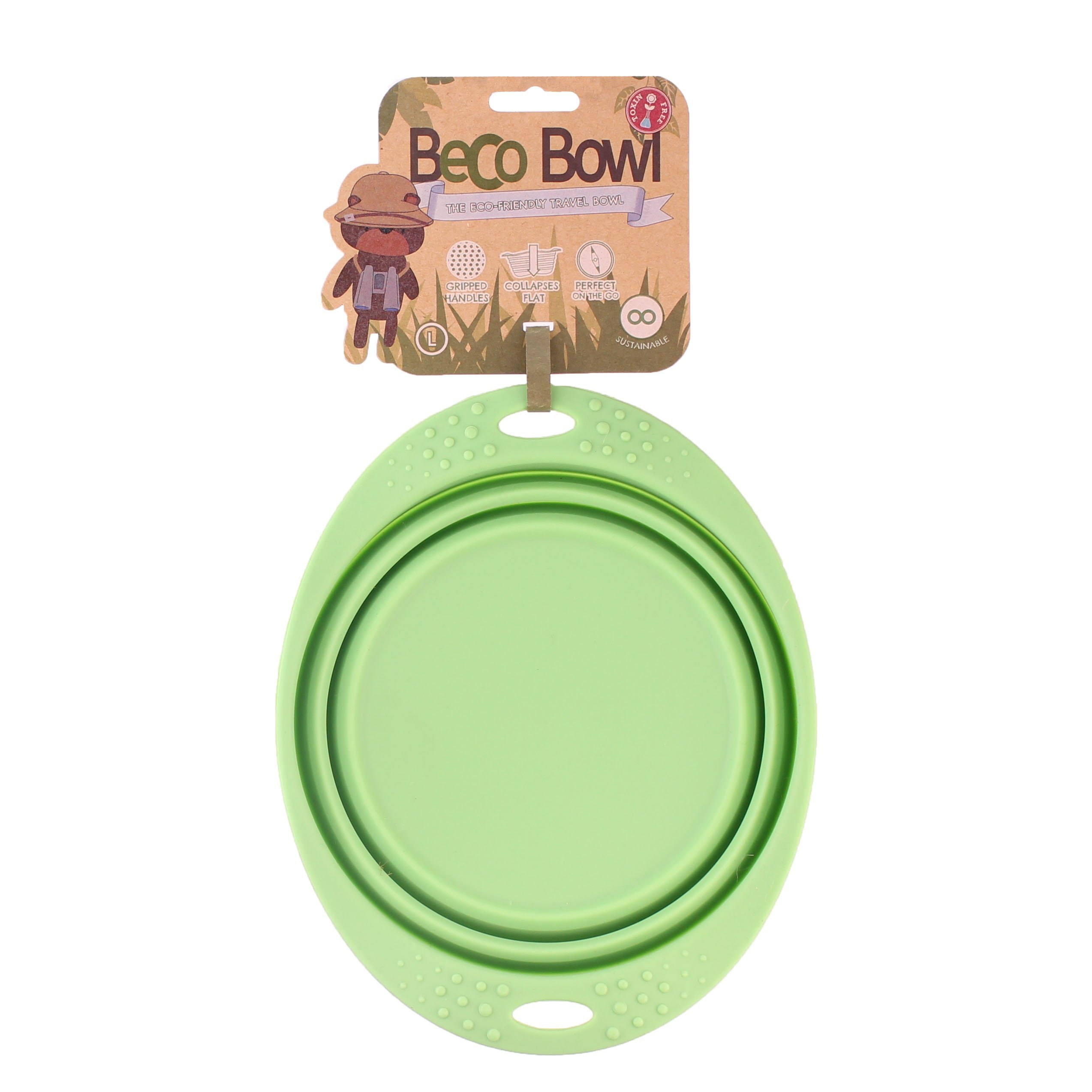 Beco Dog Travel Bowl (Large, Green) by Beco
