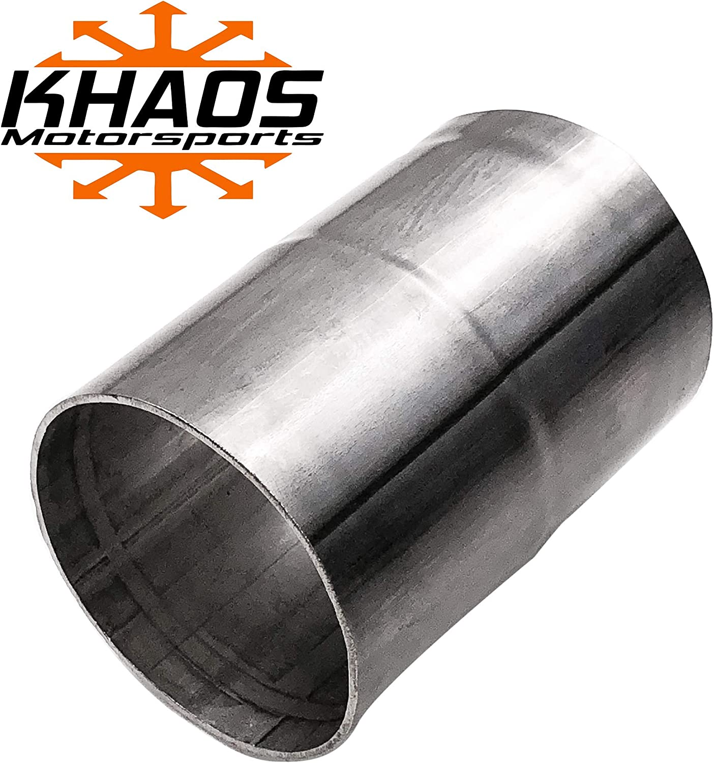 """3/"""" ID to 2.5/"""" OD exhaust reducer adapter coupler pipe 304 stainless steel"""