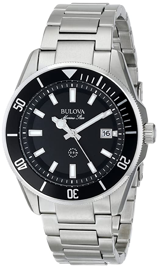 amazon com bulova men s 98b203 stainless steel watch bulova watches
