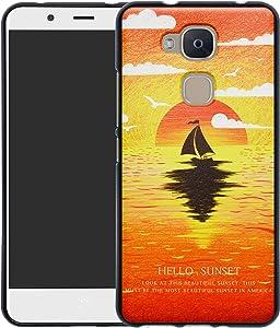 YCGG BQ Aquaris VS/V Funda, 3D Dibujos Ultrafina Silicona Gel Suave Soft TPU Diseño de Protección Caso Cover para BQ Aquaris VS/Aquaris V,Sunset