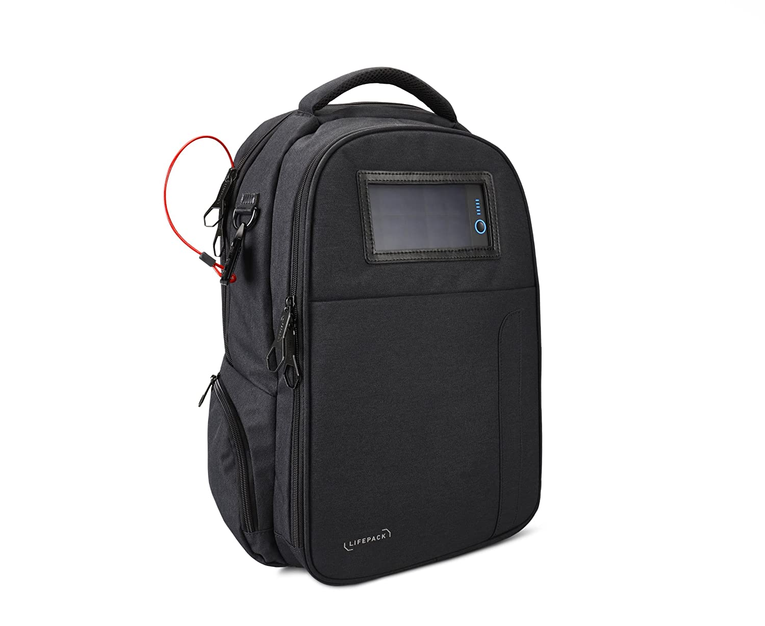 74567abde4 Amazon.com  Lifepack Solar Powered and Anti-Theft Backpack with laptop  storage  Computers   Accessories