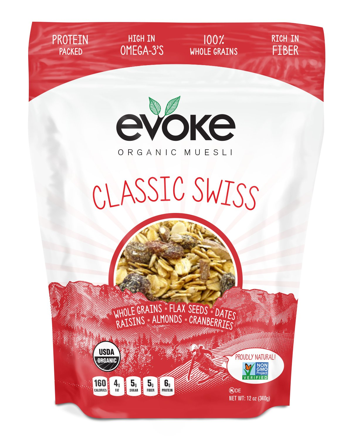 Organic Muesli, Classic Swiss, 12 ounces, PACK OF 4