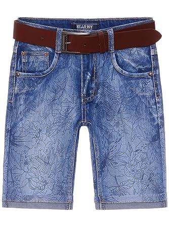 Kinder Jungen Hose Bermuda Jeans Kurze Hosen Größe 98 Mit Gürtel Sonstige Kleidung & Accessoires