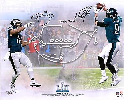 13560b763 Nick Foles   Trey Burton Philadelphia Eagles Dual-Signed 16 quot  x  20 quot  Super