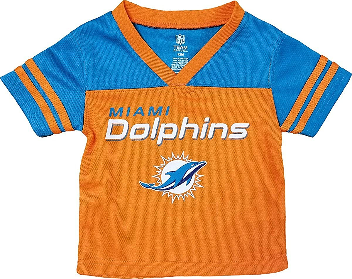 0972287e Miami Dolphins Orange NFL Boys Youth Team Apparel V Neck Jersey