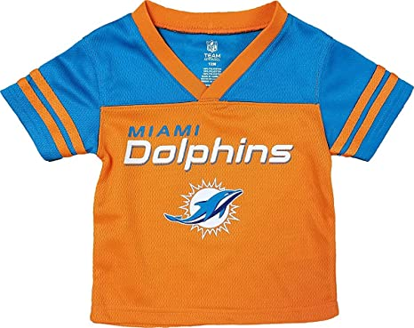 big sale eaa55 540c6 Miami Dolphins Orange NFL Boys Youth Team Apparel V Neck Jersey