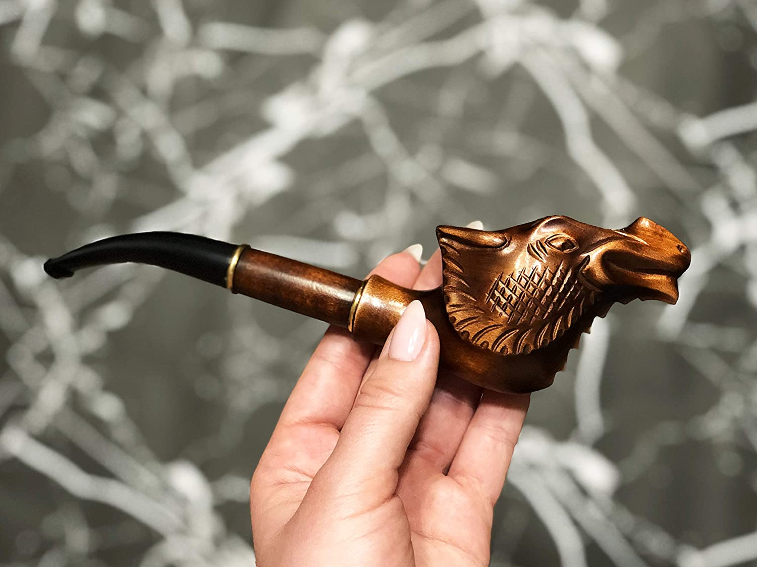 Amazon.com: Wood Carved Pipe Gift for Smokers Collectible Handmade Unique  Pipes Wood Carving Design Smoking Wooden Pipe Tobacco Smoking Pipe for  Tobacco: Handmade