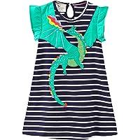 Little Girls Dresses Summer Cotton Short Sleeves Appliques Casual Skirt Jumpskirt Outfits Dress