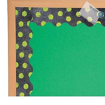 Bargain World Papier Vert Anis Pois sur Tableau Noir Tableau d ...