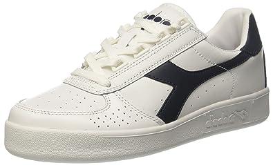0b876341 DIADORA B.Elite sneakers FABRIC LEATHER WHITE BLUE DENIM C5943 eu38
