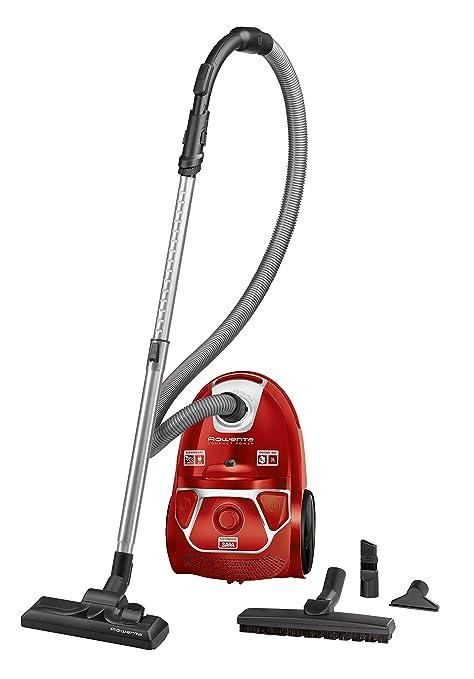 Rowenta RO3953 Compact Power aspiradora con Bolsa, 750 W, 3 litros, 79 Decibelios, Rojo