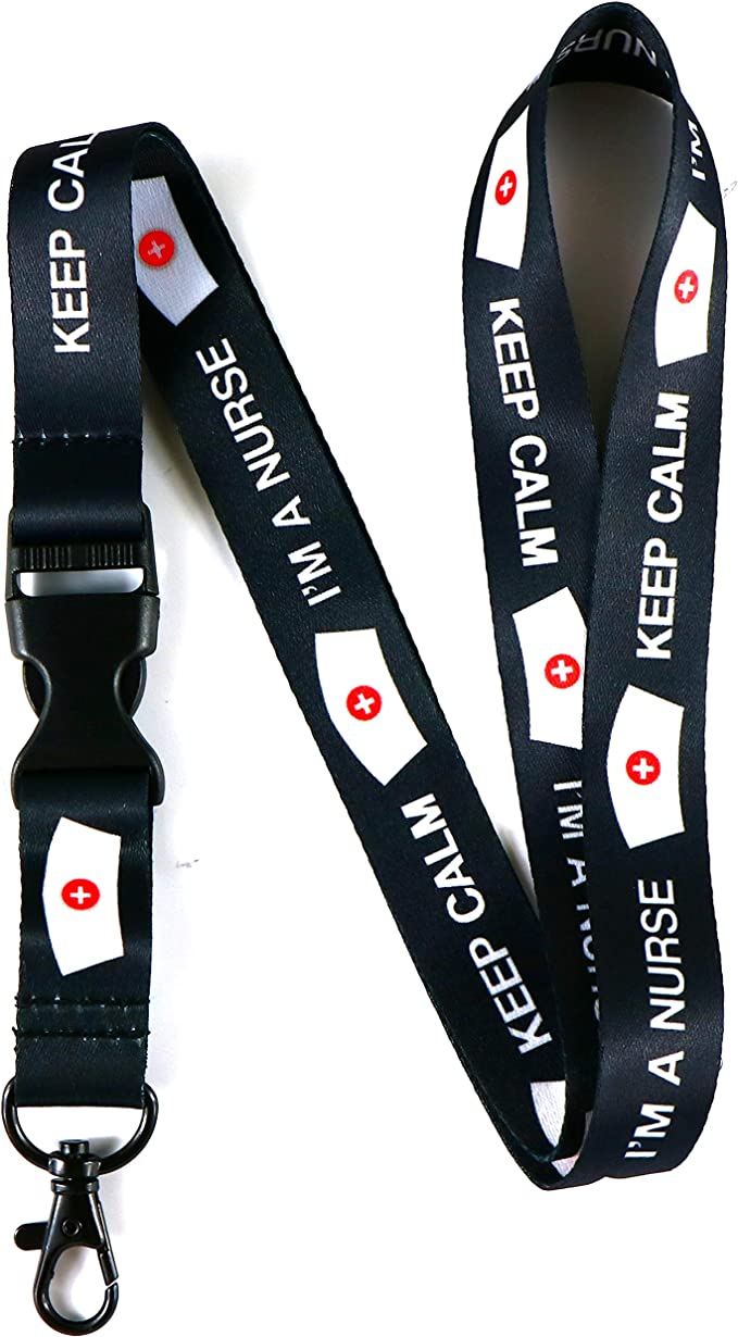 Nurses Keys Lanyard Nurses Gift Item Wristlet Key FobLuggage TagBackpack Tag;TeacherNurseHospitalMedical Conference Name Badge Holder