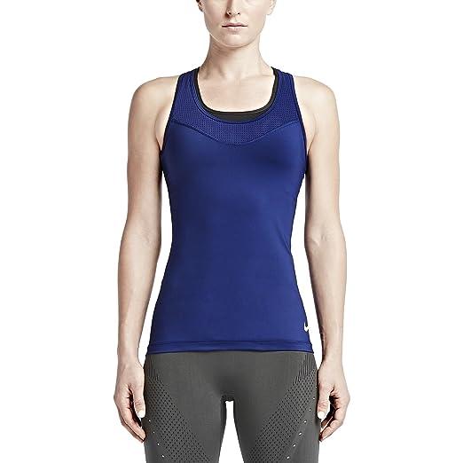 NIKE Womens Dri-Fit Pro Hypercool Training Tank Top, Blue, X-Small