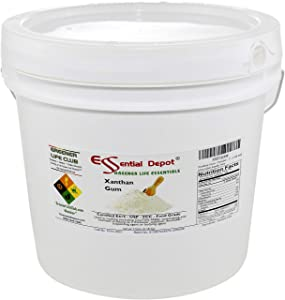 Xanthan Gum - Powder - 7 lbs in 1 Gallon Pail - USP FCC Food Grade - Gluten Free Cooking - HDPE microwavable container with resealable lid and removable handle