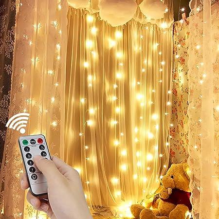 3Mx3M 300 Led String Fairy Lights Wall Garden Curtain Christmas Party Wedding