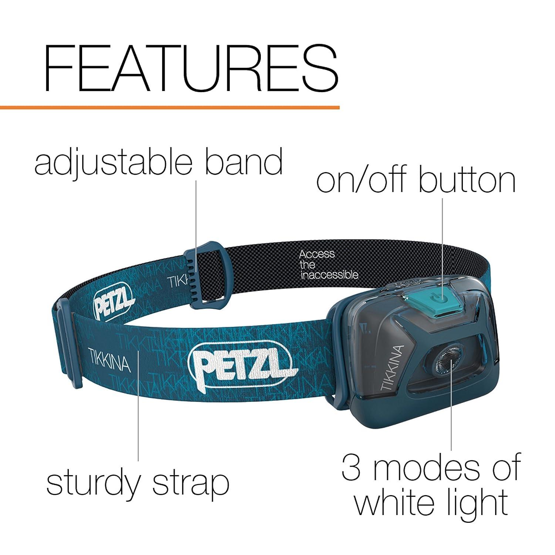 TIKKINA Headlamp 150 Lumens PETZL Standard Lighting Black E91ABA