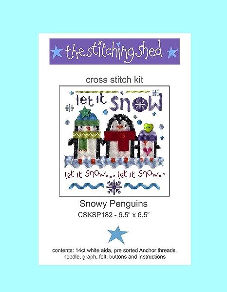 The Stitching Shed Snowy Juego de Punto de Cruz, diseño de pingüinos, Color Blanco: Amazon.es: Hogar