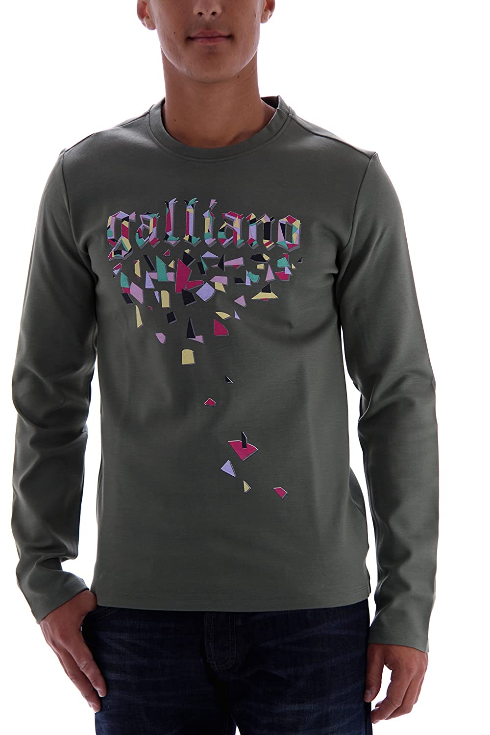 John Galliano Men's Sweatshirt Green Green Small