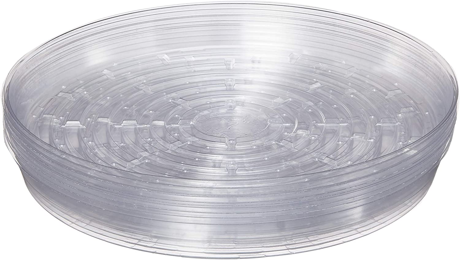 """Curtis Wagner 715007143291 Round Clear Vinyl 12"""" Plant Saucer-Pack of 10"""