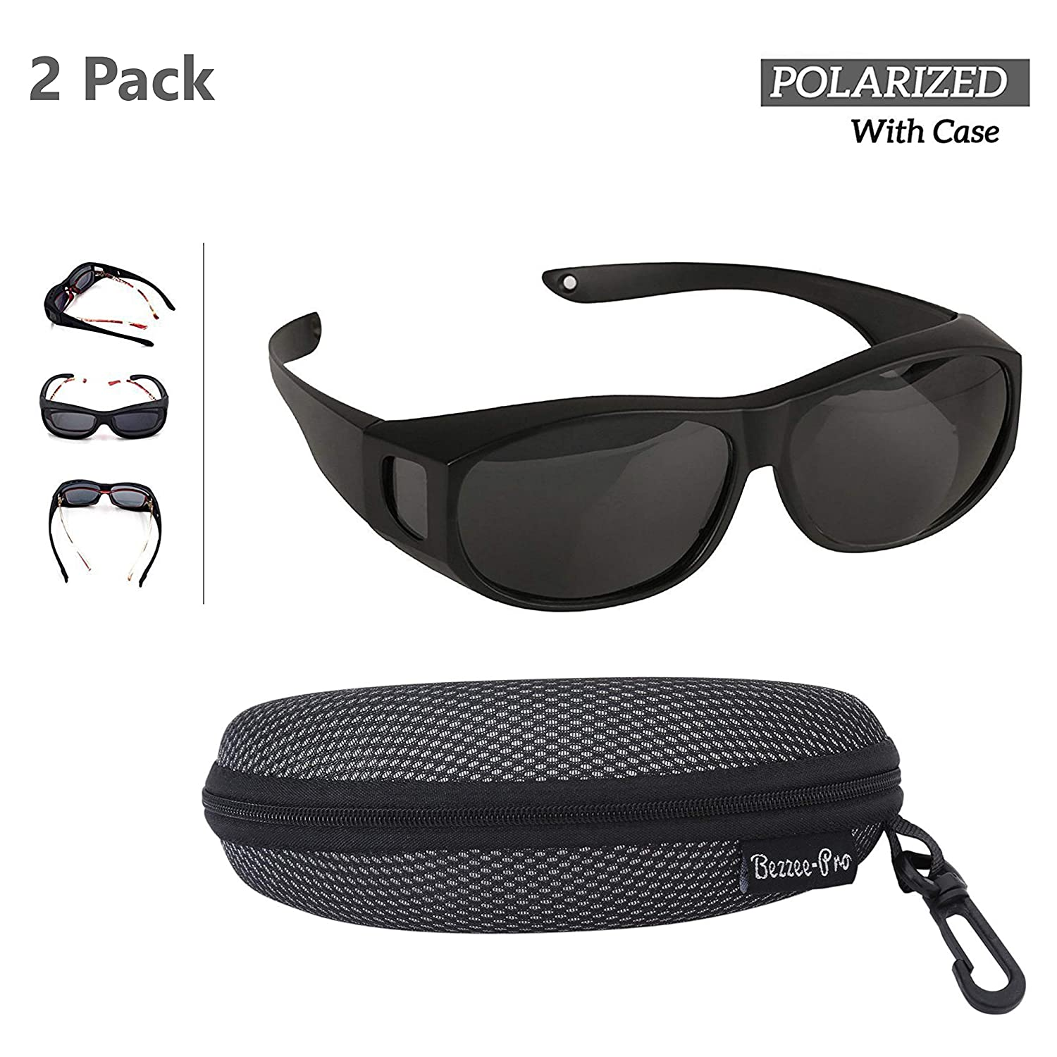 Polarized Wear Over Sunglasses Men and Women Adult Size Lightweight Cover For Regular Eye Glasses and Prescription Glasses To Reduce Glare Comfortable Best For Bike Riding
