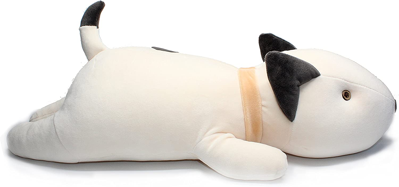 "Vintoys Bull Terrier Dog Big Hugging Pillow Soft Plush Toy Stuffed Animals White 21"""