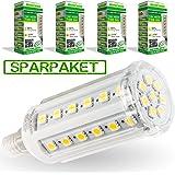 LumenStar® 4er Pack LED E14 Lampe 7,5 Watt - 750lm, 3000K warmweiß, 270° Abstrahlwinkel, ersetzt 60W - Firenze