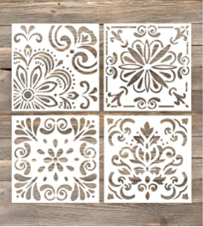 Amazon Com Gss Designs Pack Of 2 Stencils Set 12x12 Inch Painting