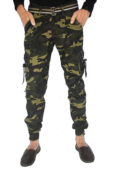 e6743a57 TOI Army Cotton Casual Cargo Jogger for Men's (DORI Style) (6 Pockets)