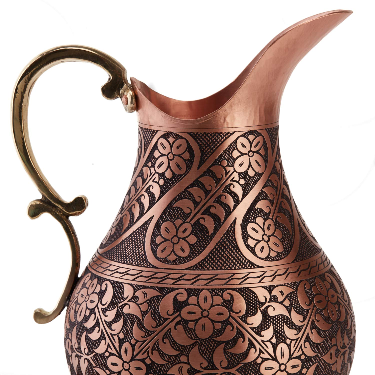 DEMMEX The Pitcher, 1mm Solid Copper Handmade Engraved Copper Pitcher Vessel Ayurveda Jug for Drinking Water, Moscow Mule, Cocktail (Matte-ArtWork) by DEMMEX (Image #5)
