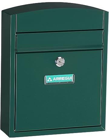 Arregui E5733 Buzon para exterior de acero modelo Compact color verde. Dimensiones (Altoxanchoxfondo)