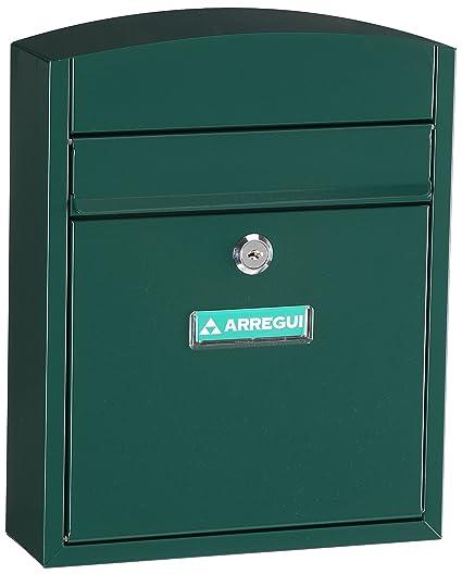 Arregui E5733 Buzon para exterior de acero modelo Compact color verde. Dimensiones (Altoxanchoxfondo): 285x240x95mm,