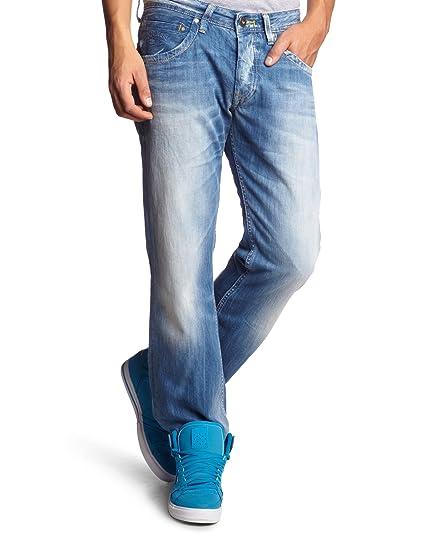 e49746d4bff Pepe Jeans Men's Loose / Relaxed Fit Jeans - Blue - Blau (000DENIM ...